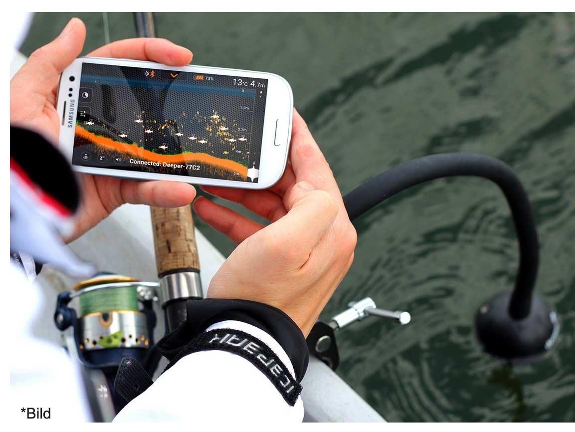 deeper fishfinder funkecholot f r handy mit app test. Black Bedroom Furniture Sets. Home Design Ideas