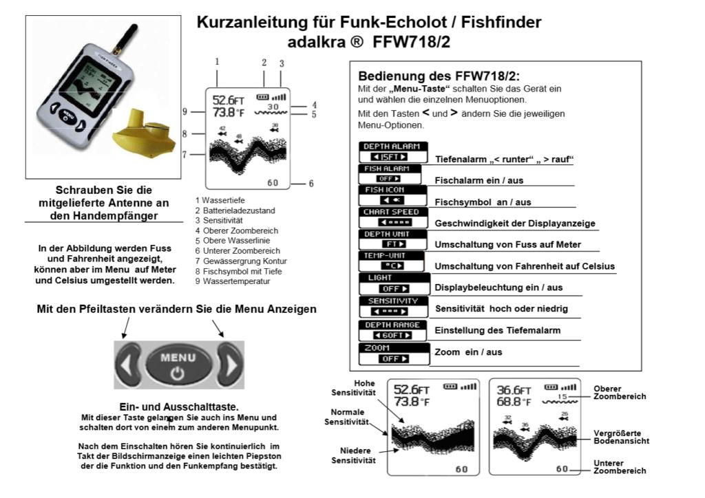 Anleitung deutsch FF w 718 Fishfinder