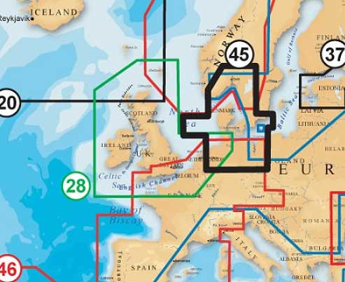 Lowrance Elite Seekarte Skagerrak-Kattegat