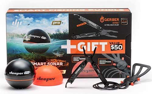 Geschenke für Angler- Ufer Angeln mit Echolot © Deeper Pro plus Set