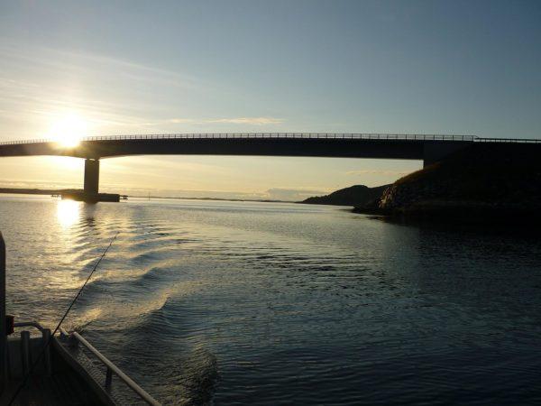 Mitternacht Angeln Sonne Norwegen Urlaub